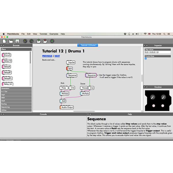 Patchblocks modularer Synthesizer, weiß