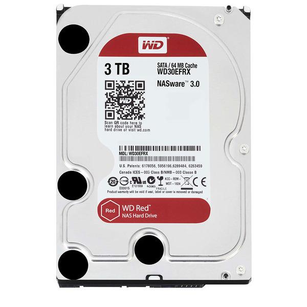 """Western Digital Interne 3,5"""" NAS-Festplatte Red, SATA-Anschluss, 3 TB"""