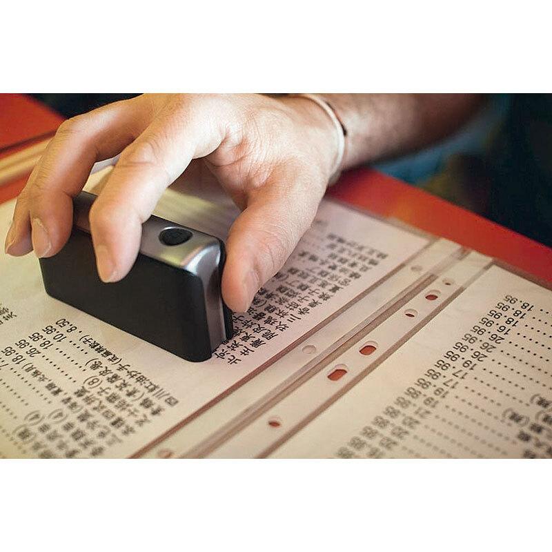 Dacuda Mobiler Dokumentenscanner Pocketscan Im Visitenkartenformat Mit Smartphone App Und Bluetoot