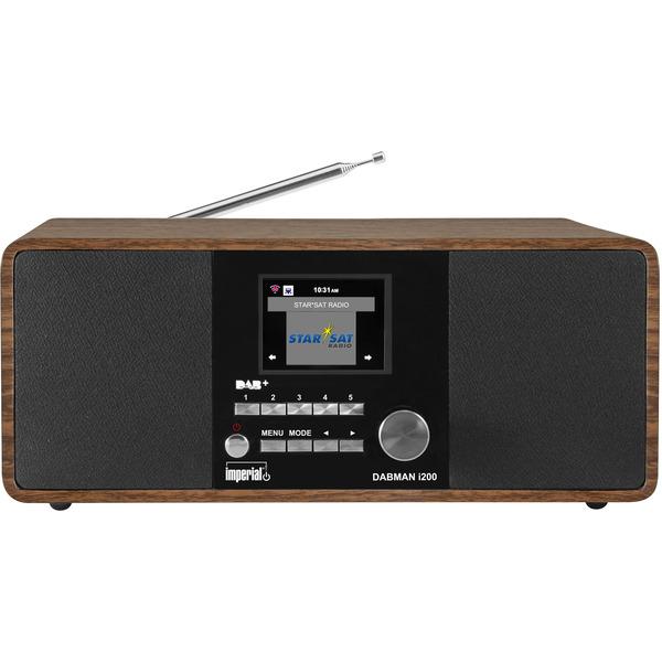 Imperial Digitalradio DABMAN i200, UKW-/DAB+/Internetradio, App-Steuerung, holz-braun