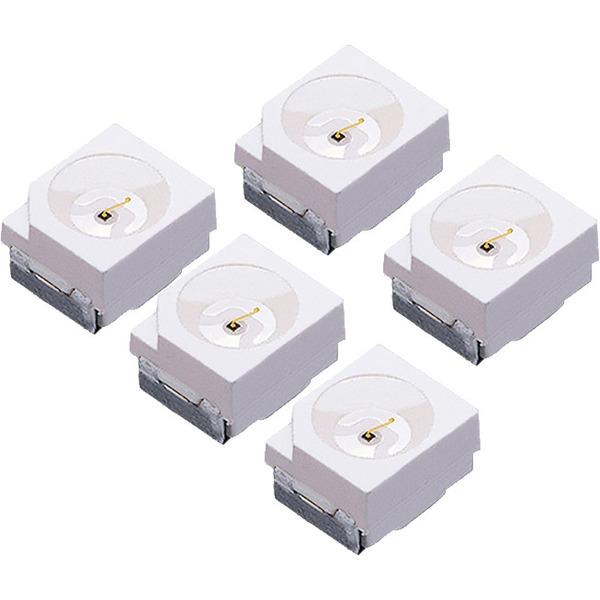 SMD-LEDs, Bauform TOP, Sortiment, 5 Stück