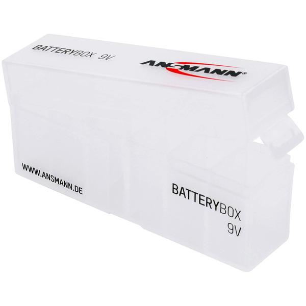Ansmann Aufbewahrungsbox für bis zu 6x 9V Block Batterien oder Akkus