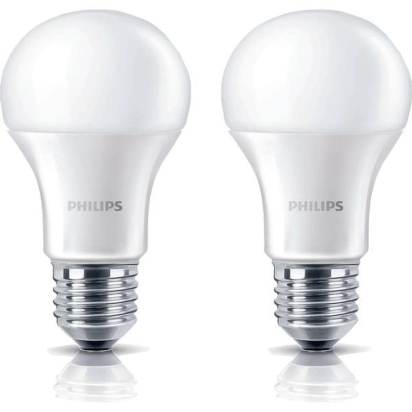 Philips 2er Pack 9-W-LED-Lampen E27, warmweiß
