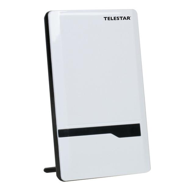 Telestar Aktive DVB-T/T2-Zimmerantenne ANTENNA 7 LTE, bis zu 35 dB, weiß