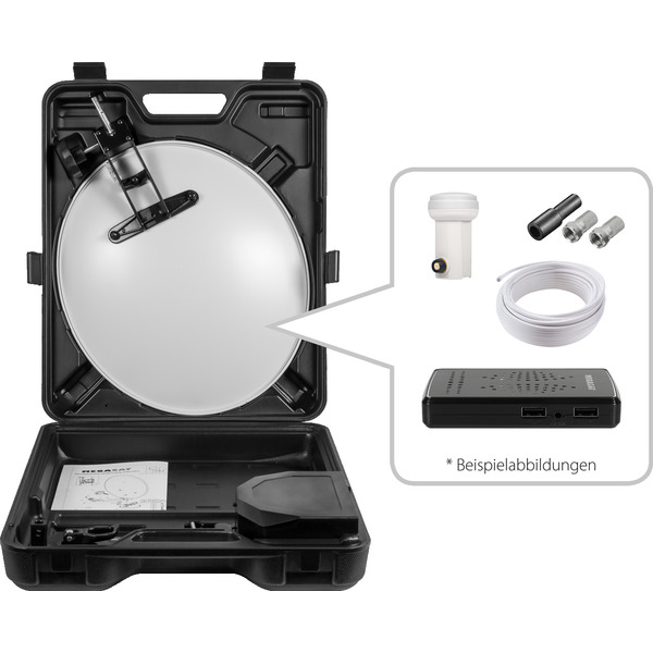Megasat Mobile Sat-Anlage im Campingkoffer HD, inkl. LNB und HD-Receiver