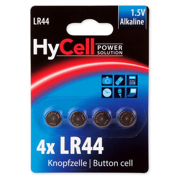 Hycell Alkaline-Knopfzelle, Typ AG-13, LR44 (4er-Pack)