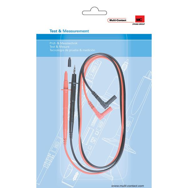 Multi-Contact Sicherheits-Messleitungen mit Prüfspitzen E4S-140, 4 mm, 1 m, schwarz/rot