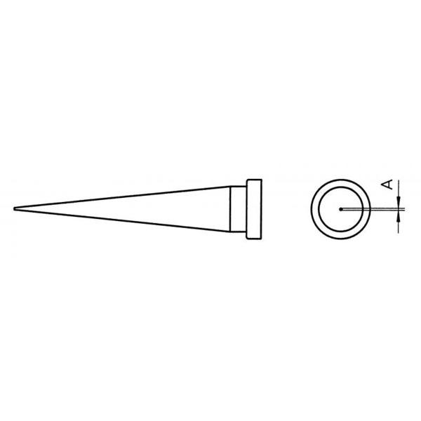 Weller Ersatzlötspitze LT T, konisch, 0,6 mm