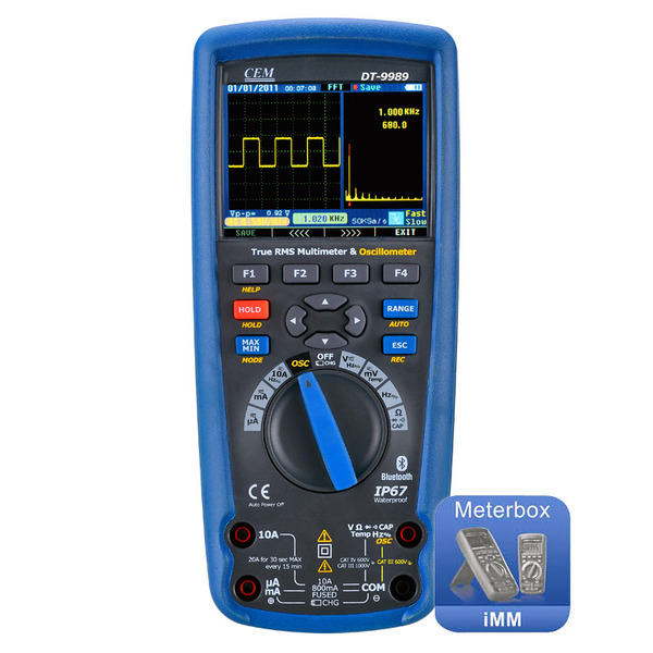 CEM Digital Multimeter DT-9989 mit True RMS + Oszilloskop
