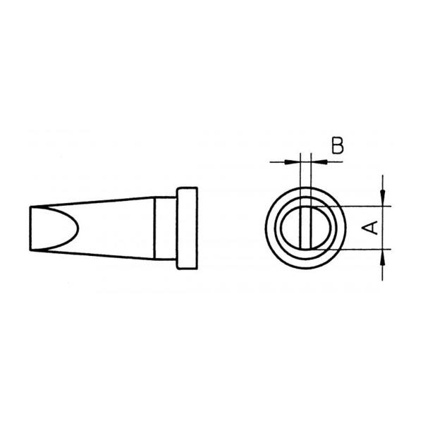 Weller Ersatzlötspitze LT C, meißelförmig, Spitze 3,2 mm breit