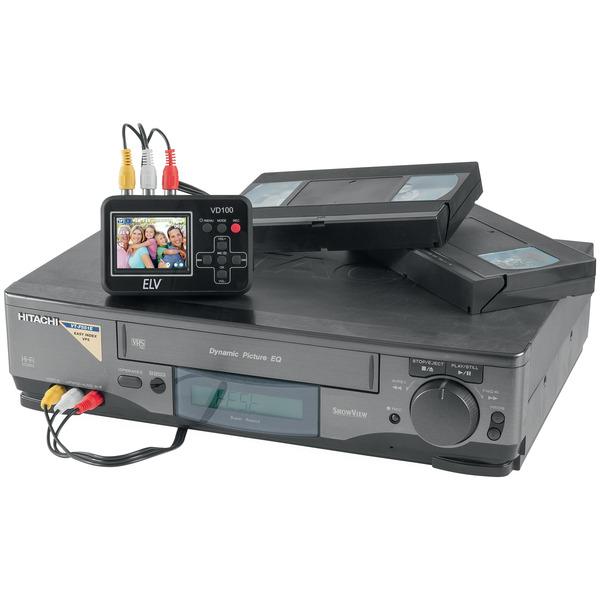 """ELV Video-Digitalisierer VD100, mit 6 cm (2,4"""") Vorschaudisplay, Stand-alone-Betrieb"""