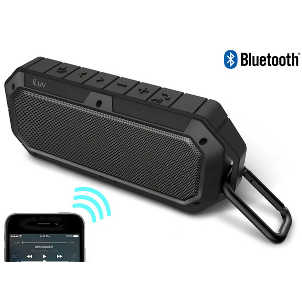 iLuv Bluetooth-Outdoor-Lautsprecher Collision, IP66, Freisprechfunktion