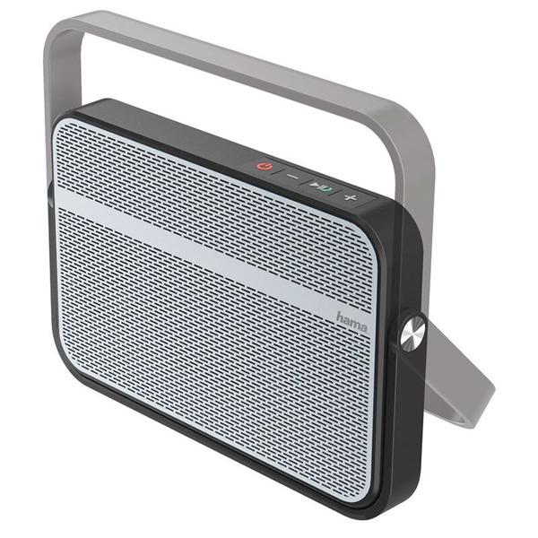 hama Mobiler Bluetooth-Lautsprecher Blade, IPX4, schwarz-silber