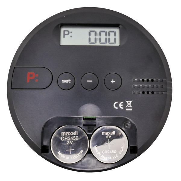 Elektronische Parkscheibe / digitale Parkuhr GoPark, autom. Parkzeiteinstellung, schwarz, rund
