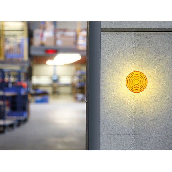 LED-Blitzlicht, orange, 12 V DC