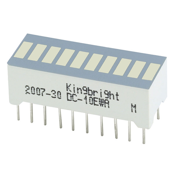 opto devices Bargraph-Anzeige, OA-R102510BZUG-21-L4.0,   10 Elemente, grün