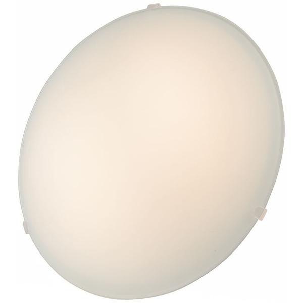 ELV 8-W-LED-Deckenleuchte mit Glaskuppel, warmweiß