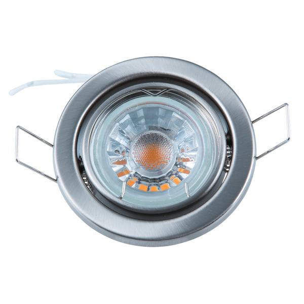 Heitronic Fassung für GU5,3-Lampen, rund, nickel-matt, schwenkbar