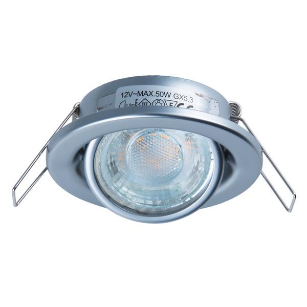 HEITRONIC Fassung für GU5,3-Lampen, rund, chrom-matt, schwenkbar