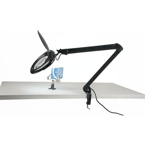 ELV LED-Lupenleuchte, 2,25-fache Vergrößerung, 760 Lumen, schwarz
