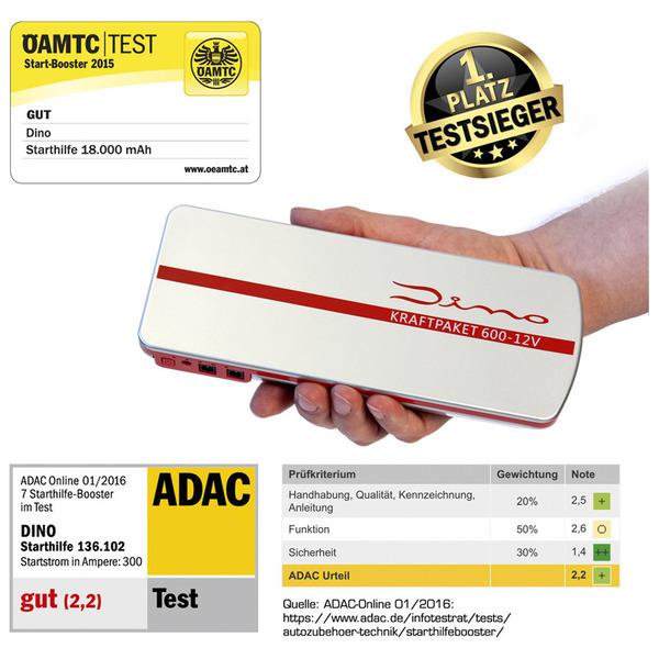 Dino Kraftpaket Starthilfegerät 12 V, 600 A, 18.000 mAh