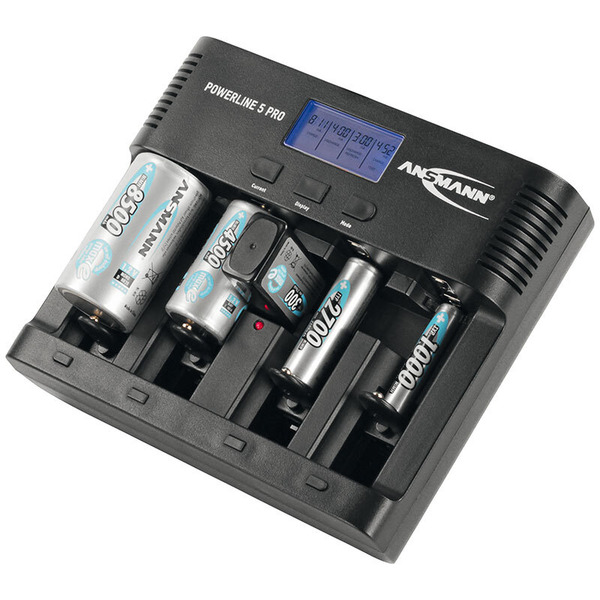 Ansmann Multifunktionsladegerät Powerline 5 pro mit USB-Ladeausgang