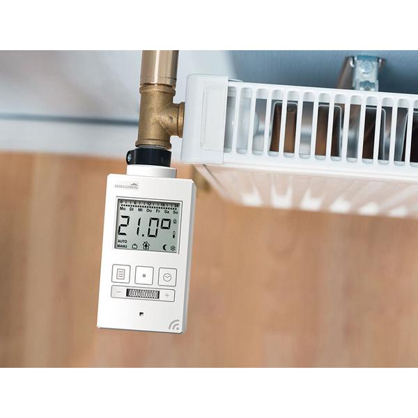 Schellenberg Funk-Heizkörperthermostat, kompatibel mit Smart Friends