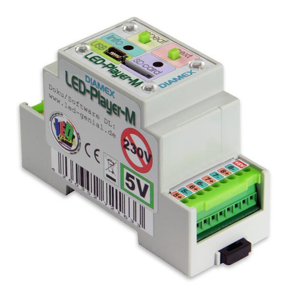 Diamex LED-Player MH für WS2812-LEDS, Hutschienmontage, inkl. Leistungsempfänger