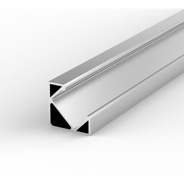 1-m-Aluminiumprofil P3-1 für LED-Streifen, mit matter Abdeckung, inkl. Endkappen