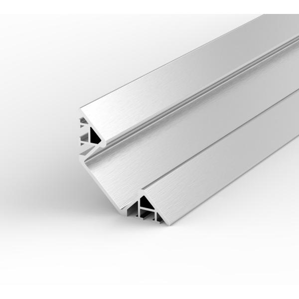 1-m-Aluminiumprofil P7-1 für LED-Streifen, mit matter Abdeckung, inkl. Endkappen