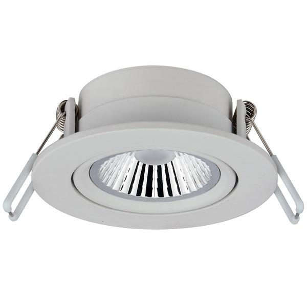 CV-Lighting 6-W-LED-Downlight, warmweiß, 36°, dimmbar (dim to warm), weiß