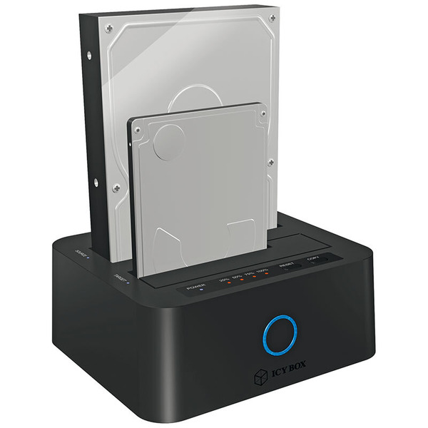 """ICY BOX 2fach USB 3.0 Docking- und Klonstation IB-123CL-U3, für 2,5"""" und 3,5"""" SATA-HDD/-SSD"""