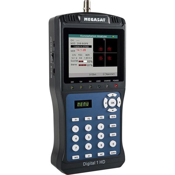 Megasat Satfinder / Messgerät Digital 1 HD, für DVB-S/S2, Messwertespeicher, Farbdisplay 8,9 cm