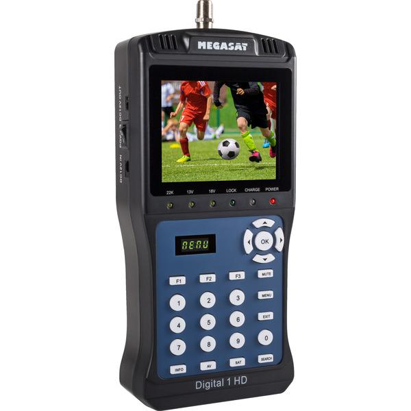 Megasat Satfinder / Messgerät Digital 1 HD, für DVB-S/S2, Live-TV-Modus, Messwertespeicher, Farbdisp