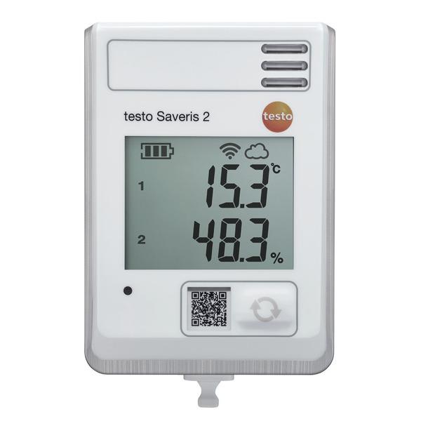testo Saveris 2-H1, Funk-Datenlogger mit integriertem Temperatur- und Feuchtefühler, inkl. Cloud-Zug