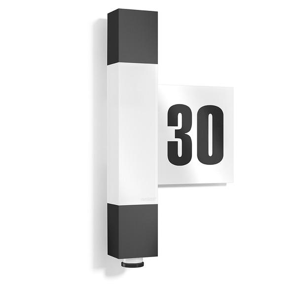 Steinel L 630 LED 8,2-W-LED-Hausnummernleuchte mit Sensor, schwarz