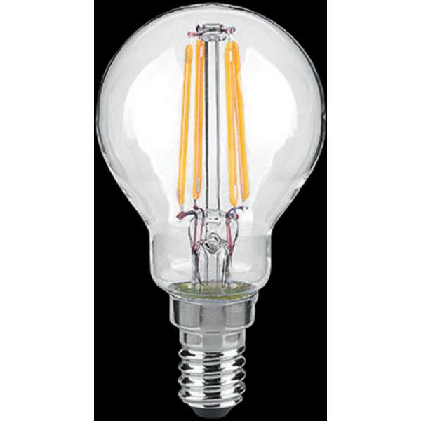 Arteko 4-W-Filament-LED-Tropfenlampe E14, klar