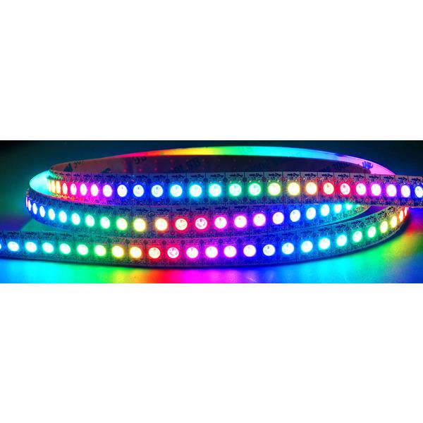 Diamex 2-m-LED-Streifen mit WS2812-kompatiblen-LEDs, 144 LEDs/m, weiße Platine