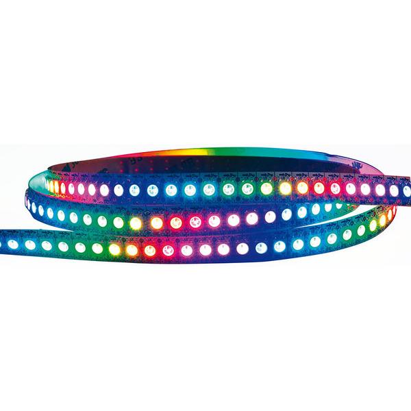 Diamex 2-m-LED-Streifen mit WS2812-kompatiblen-LEDs, 144 LEDs/m, schwarze Platine