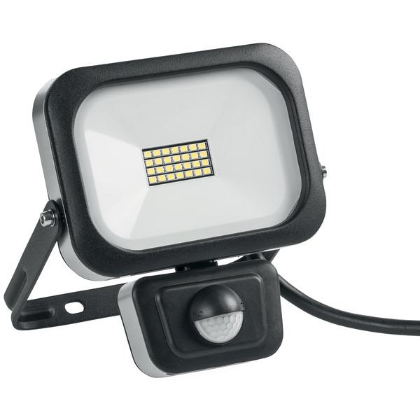 10-W-Slim-LED-Flutlichtstrahler mit 90°-PIR-Bewegungsmelder, kaltweiß, IP54, abgesetzte Anschlussbox