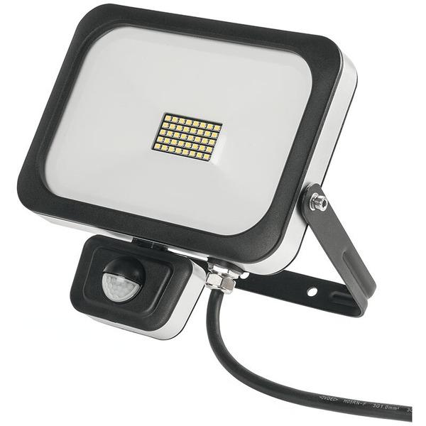 ELV 20-W-Slim-LED-Flutlichtstrahler mit 90°-PIR-Bewegungsmelder, IP54, abgesetzte Anschlussbox