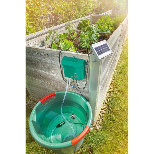 esotec Water Drops Solar-Bewässerungsystem mit 15 Tropfstellen, Akkubetrieb