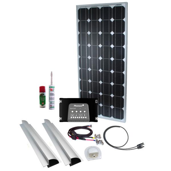Phaesun Solar Komplett-Set Caravan Kit Base Camp Two 2x 100 W, 12 V inkl. 20 A Solarladeregler