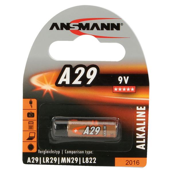 Ansmann Alkaline-Batterie Typ 29A, 9 V