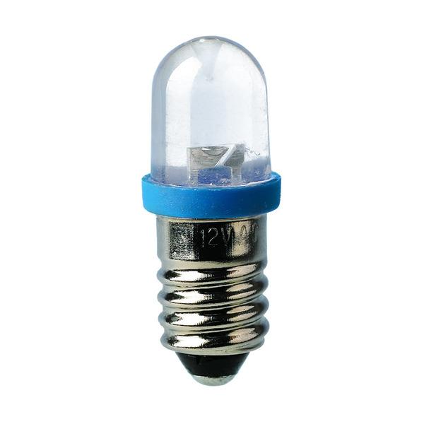 Barthelme LED-Lampe E10 mit Brückengleichrichter, 10 x 28 mm, 24 V, ultragrün