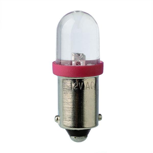 Barthelme LED-Lampe BA9s mit Brückengleichrichter, superhell, 10 x 28 mm, 12 V, weiß