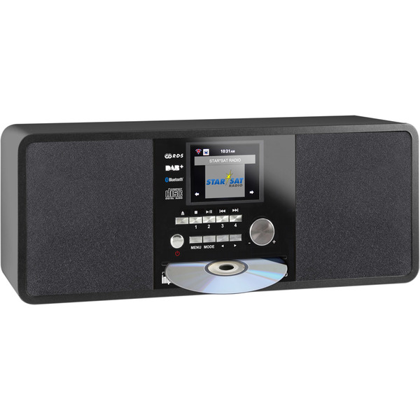 Imperial Digitalradio Dabman i200 CD, UKW-/DAB+/Internetradio, CD-Player, Bluetooth, USB, schwarz
