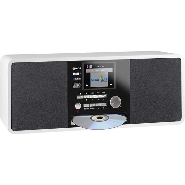 Imperial Digitalradio Dabman i200 CD, UKW-/DAB+/Internetradio, CD-Player, Bluetooth, USB, weiß