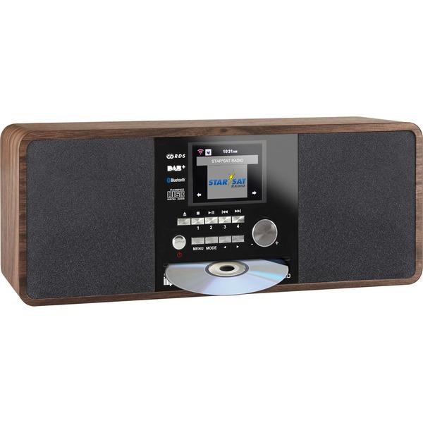 Imperial Digitalradio Dabman i200 CD, UKW-/DAB+/Internetradio, CD-Player, Bluetooth, USB, holzoptik