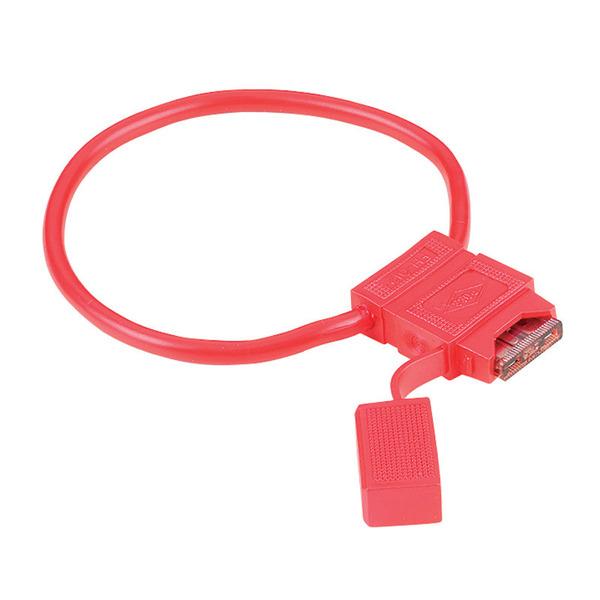 hama Sicherungshalter für Kfz-Flachsicherungen, rot